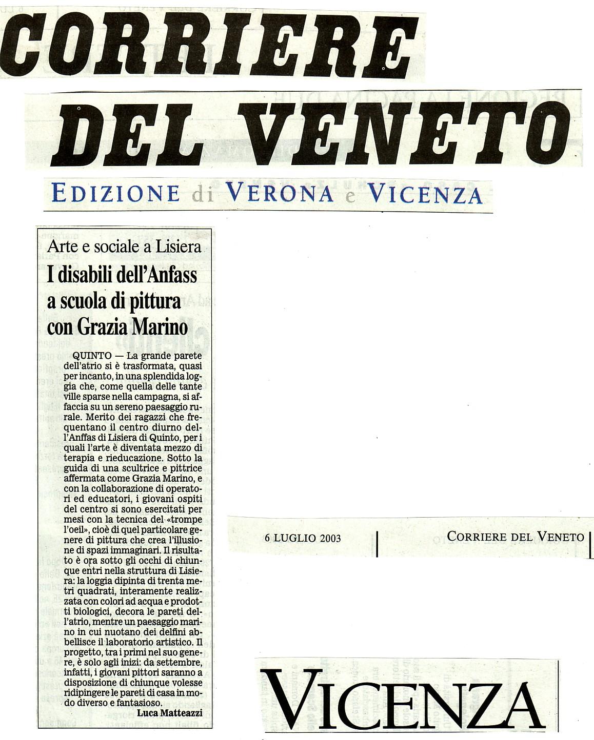Corriere del Veneto  lug.'03-di L.Matteazzi